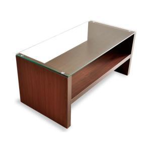 ローテーブル リビングテーブル おしゃれ 北欧 ガラス 木製 長方形 センターテーブル ガラステーブル 白 ホワイト ブラウン 収納 モダン シンプル|air-r|14