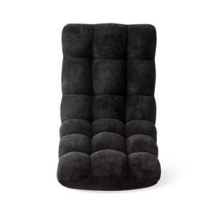 座椅子 低反発 コンパクト おしゃれ 座いす 座イス リクライニング 北欧 チェア リクライニングチェア フロアチェア モコモコ座イス ベルベット生地タイプ|air-r|15
