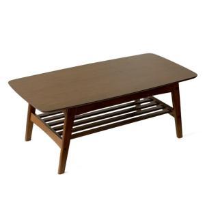 ローテーブル リビングテーブル おしゃれ センターテーブル 木製 北欧 モダン 収納 棚付き ウォールナット ナチュラル ミッドセンチュリー シンプル air-r 11