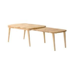 リビングテーブル おしゃれ ローテーブル 木製 伸縮 センターテーブル 北欧 西海岸 シンプル ナチュラル 伸縮テーブル エクステンションテーブル|air-r|07