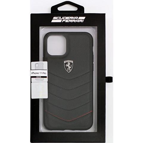 Ferrari フェラーリ 公式ライセンス品 iPhone11Pro iPhone11 本革 背面ケース バックカバー ハードケース  レザー ブランド|airs|10