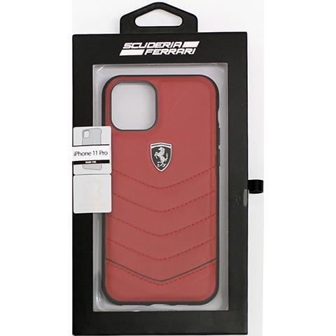 Ferrari フェラーリ 公式ライセンス品 iPhone11Pro iPhone11 本革 背面ケース バックカバー ハードケース  レザー ブランド|airs|11