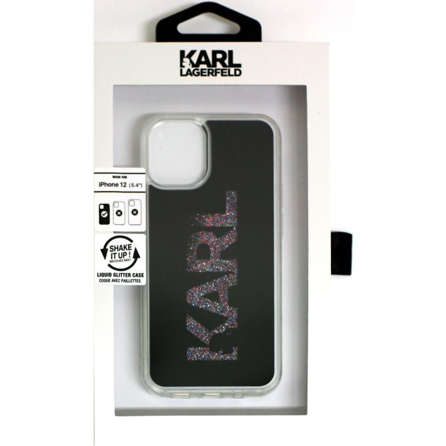 カール・ラガーフェルド 公式ライセンス品 iPhone12mini iPhone12 iPhone12Pro グリッター背面ケース バックカバー ブラック ゴールド|airs|08