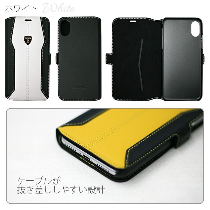 ランボルギーニ公式ライセンス品iPhoneXケース本革手帳型ケースアイフォンXケース
