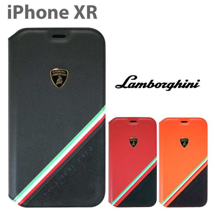 ランボルギーニ iPhoneXR 本革手帳型ケース