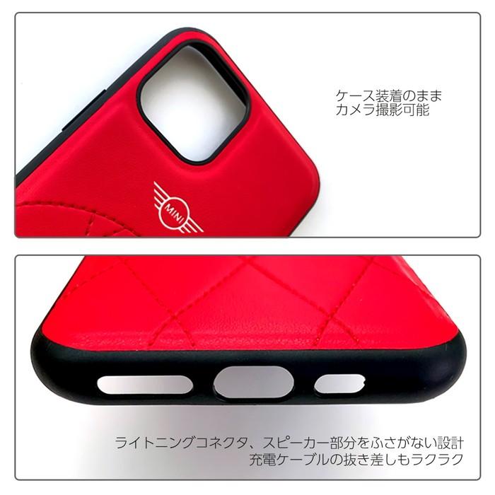 MINIミニ・公式ライセンス品iPhone11ProiPhone11PUレザー ハードケース