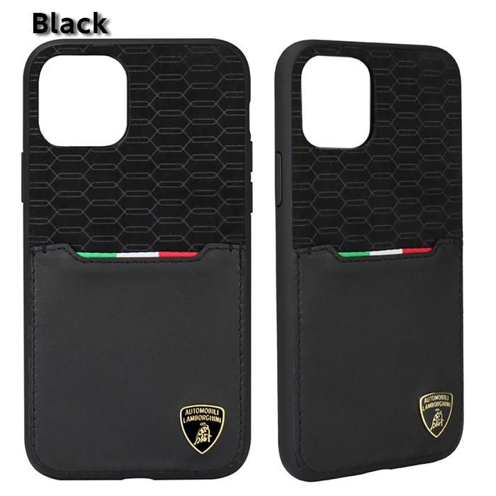 ランボルギーニiPhone11Pro/11/11ProMax本革+アルカンターラ背面ケースバックカバー
