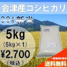 新米!30年産米(白米)会津コシヒカリ5kg