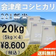 新米!30年産米(白米)会津コシヒカリ20kg