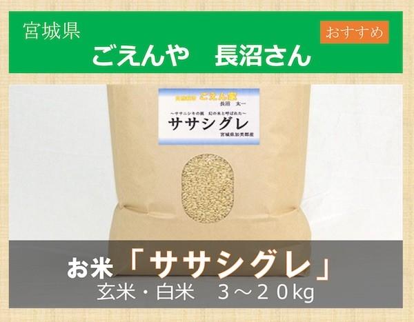 お米 ササシグレ