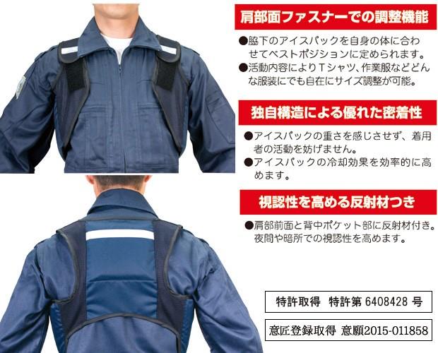 熱中症対策 アイスハーネス 抜群の装着感と保冷効果