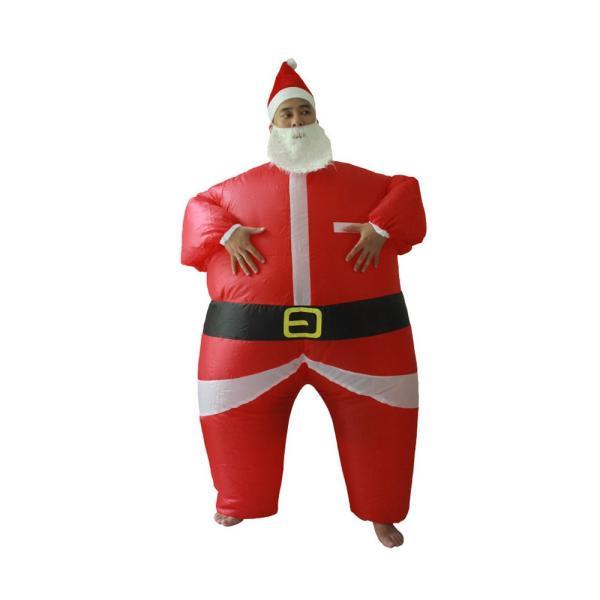 サンタコスプレ トナカイ エアー クリスマス 大人 サンタ服 空気 膨らむ 着ぐるみ 衣装 パーティー pa099|akaneashop|09