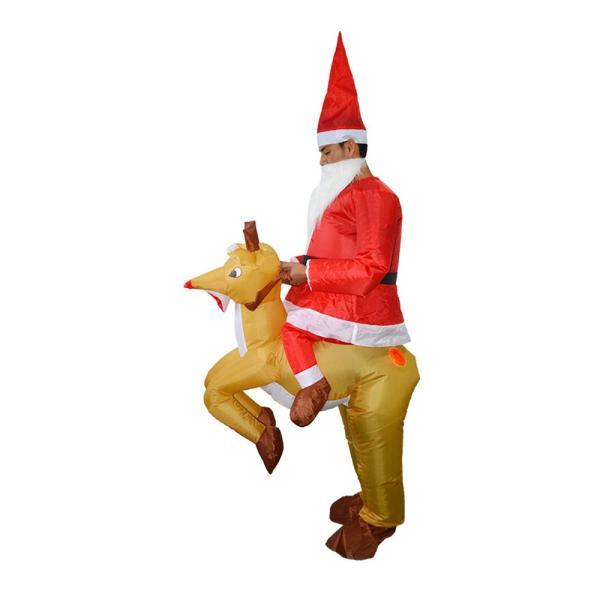 サンタコスプレ トナカイ エアー クリスマス 大人 サンタ服 空気 膨らむ 着ぐるみ 衣装 パーティー pa099|akaneashop|10