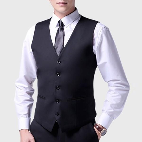 ジレベスト フォーマルベスト メンズ 無地 前開き Vネック フォーマル ベスト スーツ ビジネス 男性 礼服 定番 格好いい 紳士的 結婚式 宴会 ドレス akanebeauty 11