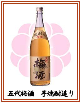 五代梅酒  芋焼酎造り