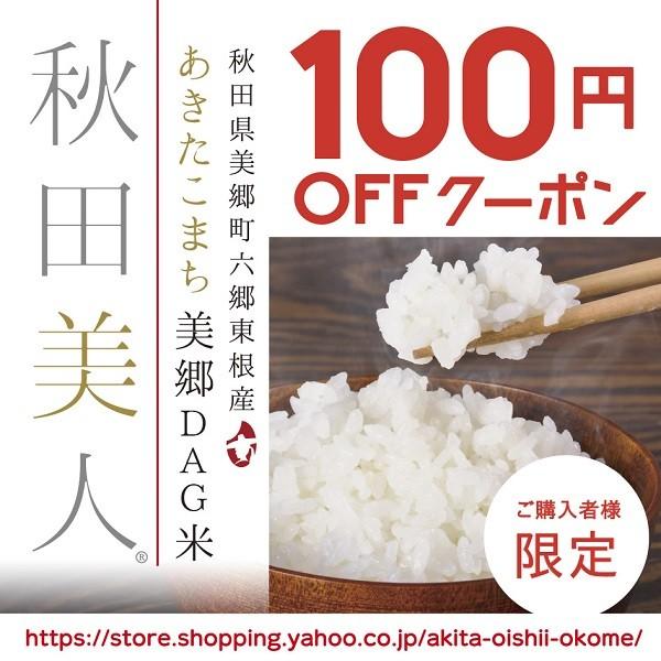 【あきたこまち美郷DAG米「秋田美人」】100円OFFクーポン