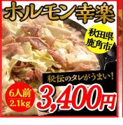 ホルモン幸楽 6人前 2.1kg 3,400円