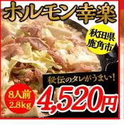 ホルモン幸楽 8人前 2.8kg 4,520円