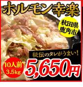 ホルモン幸楽 10人前 3.5kg 5,650円
