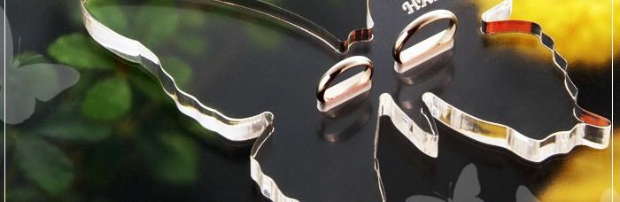 リングピロー、結婚式、プレゼント、名入れ可能、バタフライ結婚指輪