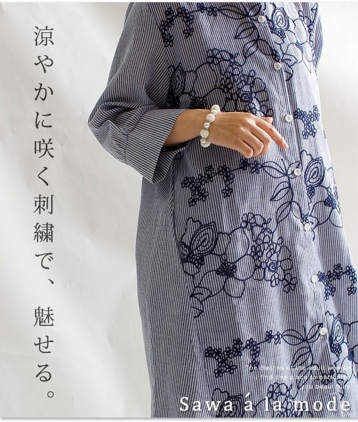 巻き散る花たちロングシャツ【6月9日10時再入荷】