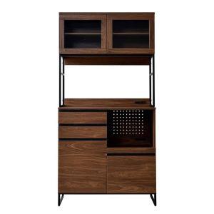 食器棚 おしゃれ 幅90cm レンジ台 キッチン収納 食器棚|alberoshop|20