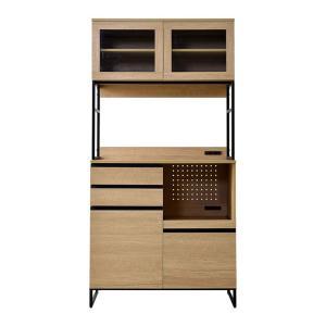 食器棚 おしゃれ 幅90cm レンジ台 キッチン収納 食器棚|alberoshop|21