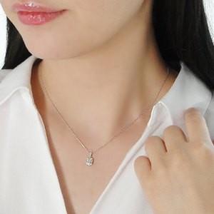 商品画像3 k18WG 0.2ct バケットカット ダイヤモンド ネックレス