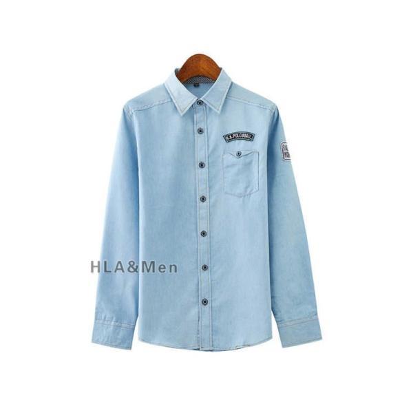 カジュアルシャツ デニム シャツ メンズ 長袖シャツ デニムシャツ ダンガリーシャツ トップス 新作 allforever 20