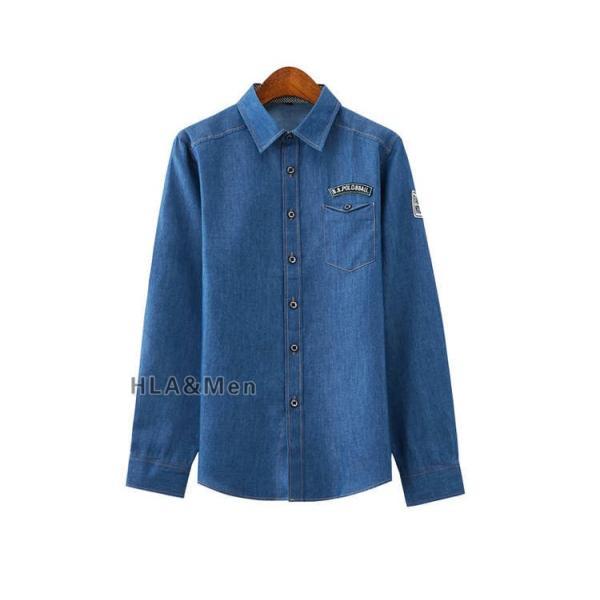 カジュアルシャツ デニム シャツ メンズ 長袖シャツ デニムシャツ ダンガリーシャツ トップス 新作 allforever 21