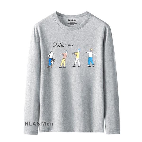 プリントTシャツ メンズ Tシャツ クルーネック 長袖Tシャツ ティーシャツ コットンTシャツ トップス おしゃれ 2019秋冬 新作|allforever|16