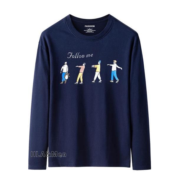 プリントTシャツ メンズ Tシャツ クルーネック 長袖Tシャツ ティーシャツ コットンTシャツ トップス おしゃれ 2019秋冬 新作|allforever|20