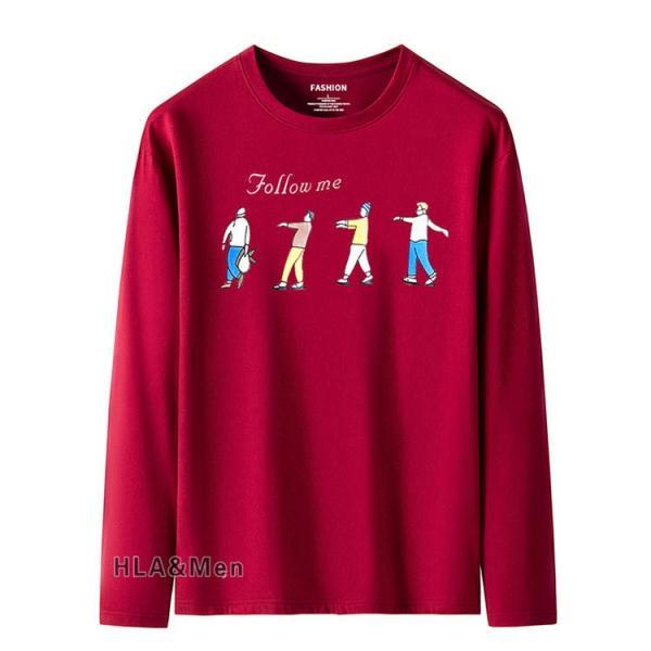 プリントTシャツ メンズ Tシャツ クルーネック 長袖Tシャツ ティーシャツ コットンTシャツ トップス おしゃれ 2019秋冬 新作|allforever|17