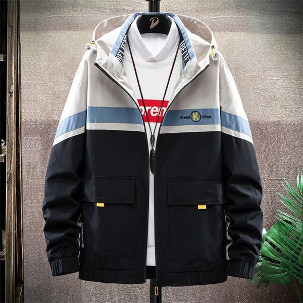 ウィンドブレーカー メンズ ジャケット 薄手 マウンテンパーカー ジャンパー ライトアウター 切替 お兄系 allforever 24
