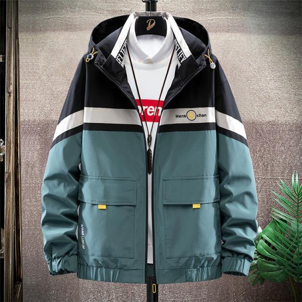 ウィンドブレーカー メンズ ジャケット 薄手 マウンテンパーカー ジャンパー ライトアウター 切替 お兄系 allforever 22