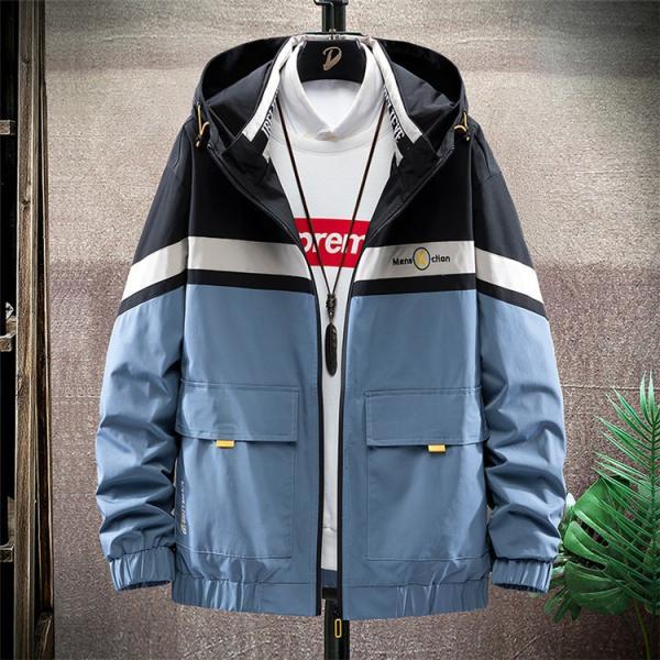 ウィンドブレーカー メンズ ジャケット 薄手 マウンテンパーカー ジャンパー ライトアウター 切替 お兄系 allforever 23