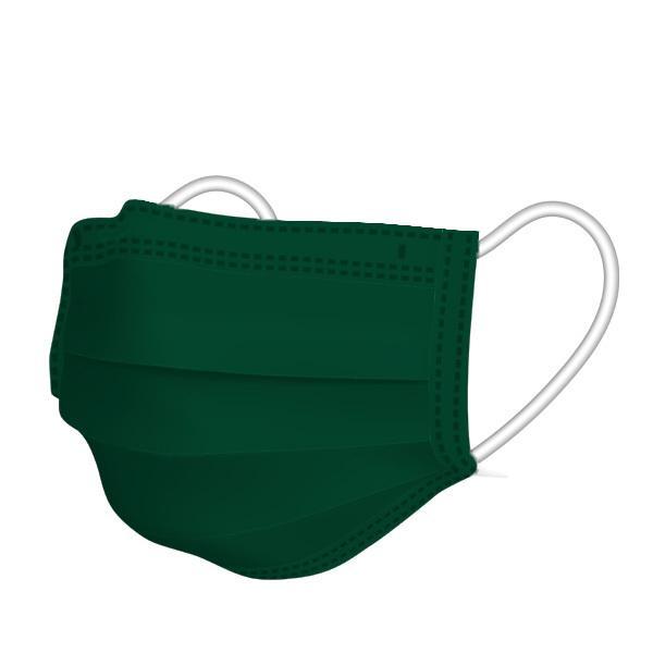 【1枚15円】不織布カラーマスク 1枚ずつ個別包装 カラーが選べる ふつうサイズ 使い捨て 平ゴム 3層不織布 花粉 風邪 PM2.5 ウイルス飛沫対策|allone-shop|24