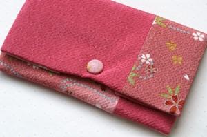 夢乃 数珠袋 濃いピンク