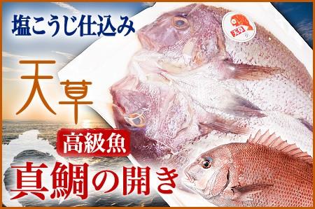 塩こうじ仕立て 天草高級魚 真鯛の開き