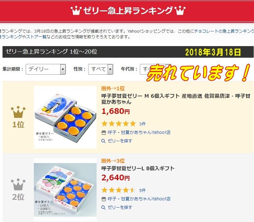 甘夏ゼリー人気ランキング1位2018年3月18日