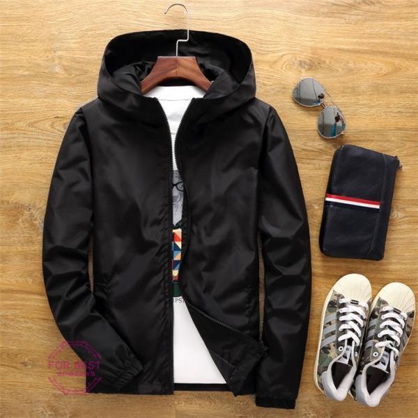 ウィンドブレーカー メンズ ジップアップパーカー ジャケット UVカット 大きいサイズ おしゃれ ブルゾン 撥水 防風 新春 セール amazawa 20