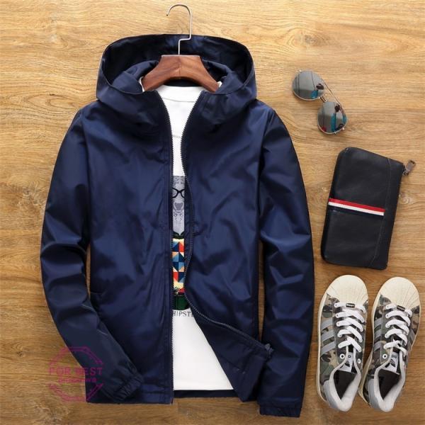 ウィンドブレーカー メンズ ジップアップパーカー ジャケット UVカット 大きいサイズ おしゃれ ブルゾン 撥水 防風 新春 セール amazawa 21