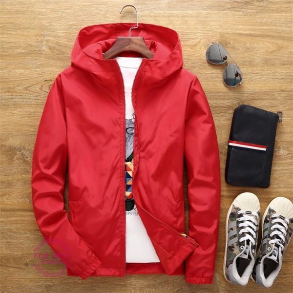 ウィンドブレーカー メンズ ジップアップパーカー ジャケット UVカット 大きいサイズ おしゃれ ブルゾン 撥水 防風 新春 セール amazawa 24
