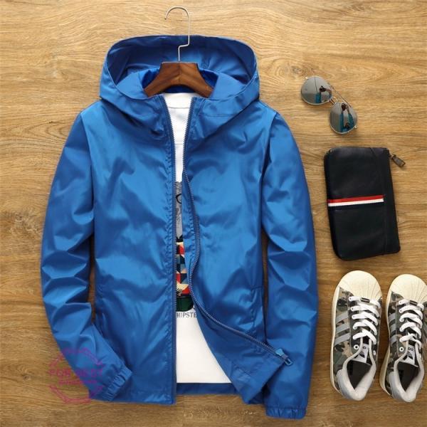 ウィンドブレーカー メンズ ジップアップパーカー ジャケット UVカット 大きいサイズ おしゃれ ブルゾン 撥水 防風 新春 セール amazawa 22