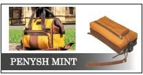 グローブレザーで作られた革鞄 大人の革鞄ペニシュミント