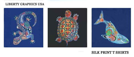 ナチュラルデザイン 野生動物のアートTシャツ