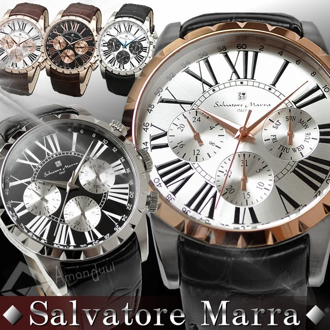 【腕時計ランキング上位ブランド】Salvatore Marra 腕時計 メンズ マルチカレンダー搭載 メンズ腕時計 男性 紳士用 メンズウォッチ サルバトーレマーラ 腕時計 プレゼント・ギフト【腕時計】【新作モデル】クリスマス