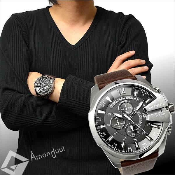 【ディーゼル】ディーゼル/DIESEL/腕時計/メンズ/DZ4290/クロノグラフ/レザーベルト/メガチーフ/メンズ腕時計/時計/男性用/ディーゼル/DIESEL/人気モデル/誕生日プレゼント・クリスマスにも【ディーゼル】