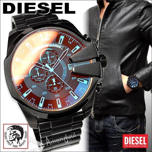 32e5952a38 【送料無料】ディーゼル DIESEL 腕時計 メンズ DZ4318 クロノグラフ レザーベルト メガチーフ メンズ腕時計