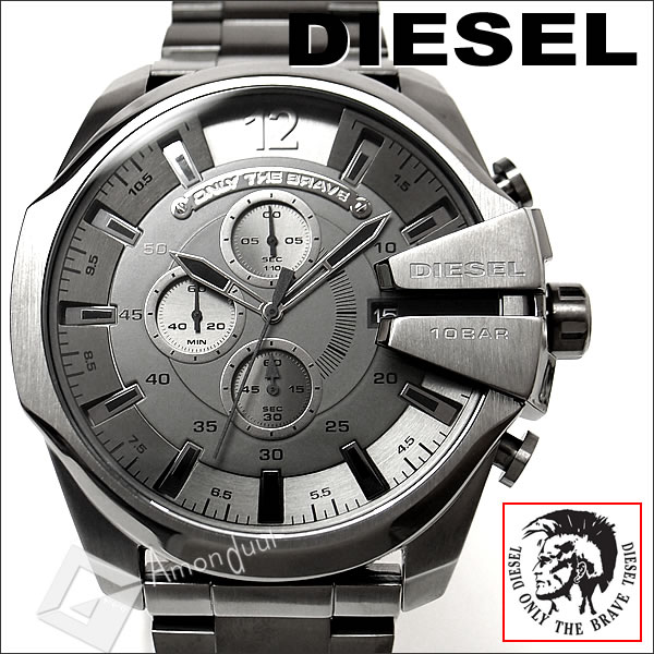 f1c2cc9ea9 【送料無料】ディーゼル DIESEL 腕時計 メンズ DZ4282 クロノグラフ ガンメタリック メガチーフ メンズ腕時計